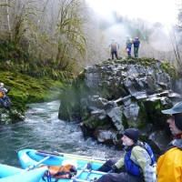 Rafting The Wilson River Near Tillamook Oregon