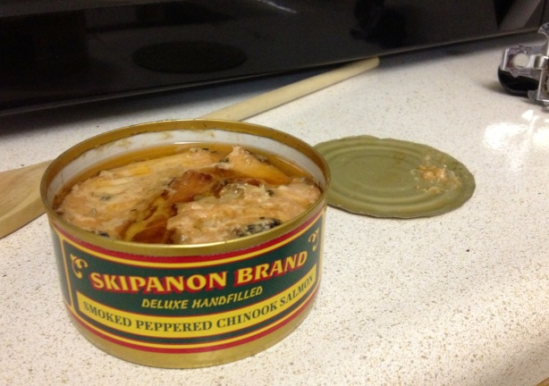 skipanon brand smoked peppered chinook salmon