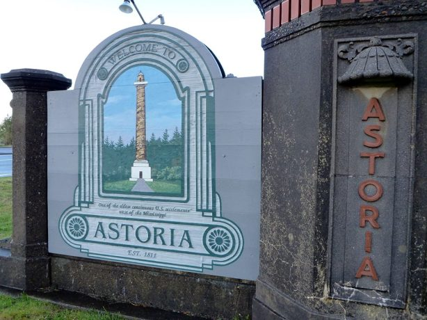astoria oregon sign