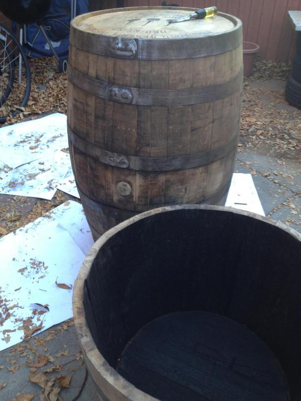 Vintage Oak Barrels