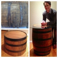 Upcycle Whiskey Oak Barrel Tables Project