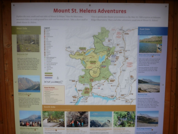 Mount St. Helens Adventures Map