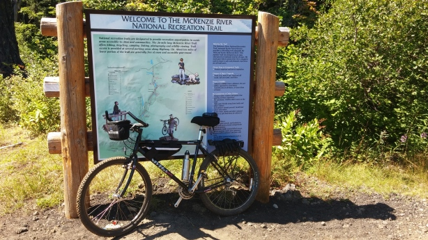 McKenzie River Trailhead Sign