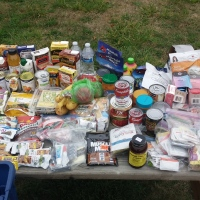 Car Camping Food Items Listed with Photo