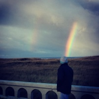 Double Rainbow in Seaside Oregon at The Beach