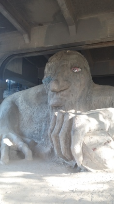 Fremont Bridge Troll - I didn't pay him