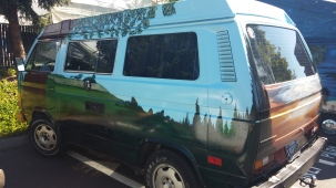 Painted VW Vanagon Westy