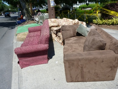 Couches Prepared for Parade