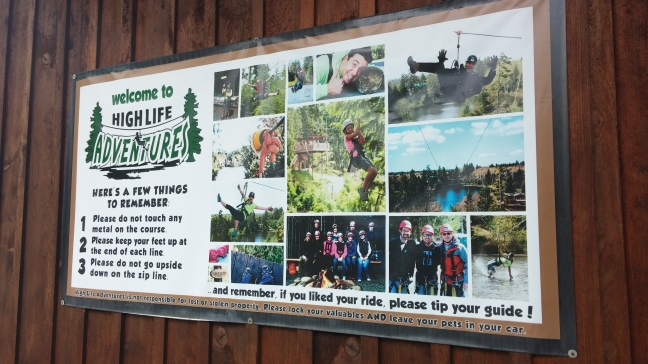 High Life Adventures Sign