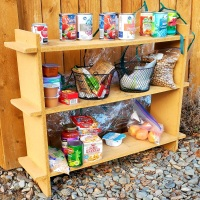 Outdoor Community Food Pantry with Free Warm Coats!